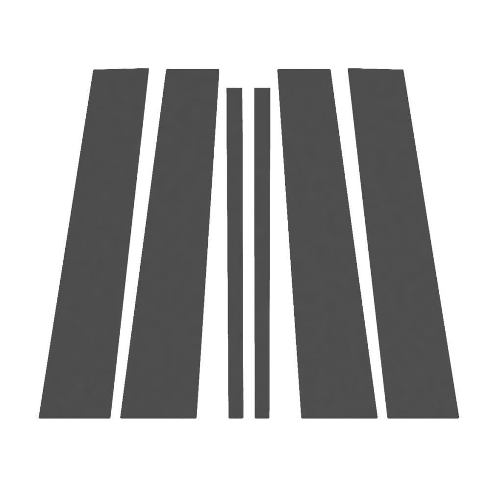 Ferreus Industries Matte Flat Black Pillar Post Trim Cover fits 2009-2015 Honda Pilot All Models PIL-134-MB