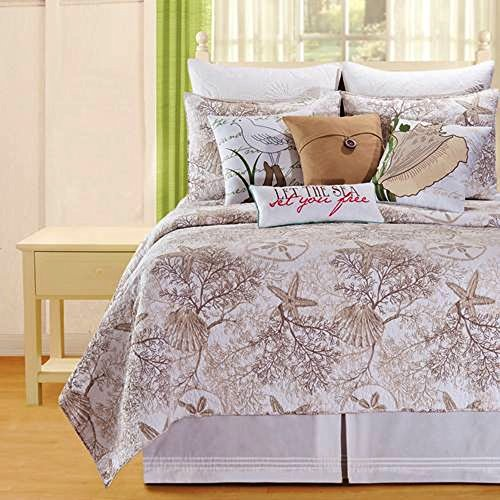 Barefoot Landing Queen 10 Piece Bedding Ensemble by C & - Landing Barefoot