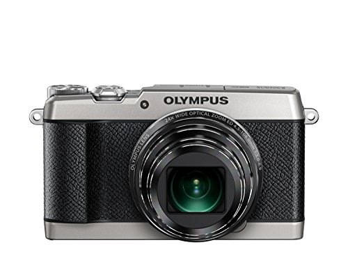 Olympus SH-2 Silver 16.0 Mpix 24x super wide Zoom, V107090SE000 (24x super wide Zoom 3.0 460K dots touch LCD, full HD 60p Movie, Smart Panorama, built-in Wi-Fi) – International Version (No Warranty)