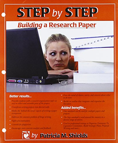 step by step building a research paper Writing the proposal 31 audience the proposal should be written for an intelligent, well-informed person, but one who is not deeply involved in the particular problems you are addressing (mauch and birch, 1989:65) 32 getting started the first step in preparing a research proposal is to prepare a rough draft.