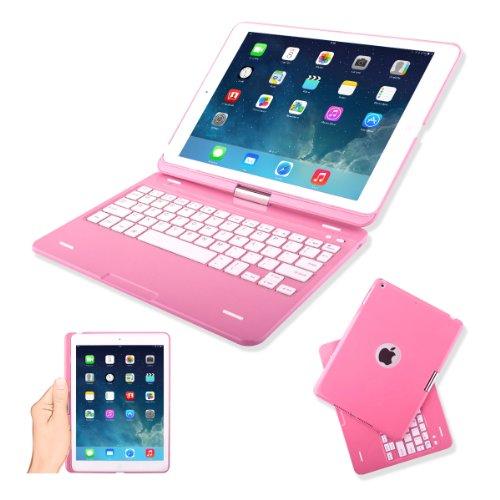 Kamor® iPad Air iPad 5 Case Cover with Keyboard Pink ...