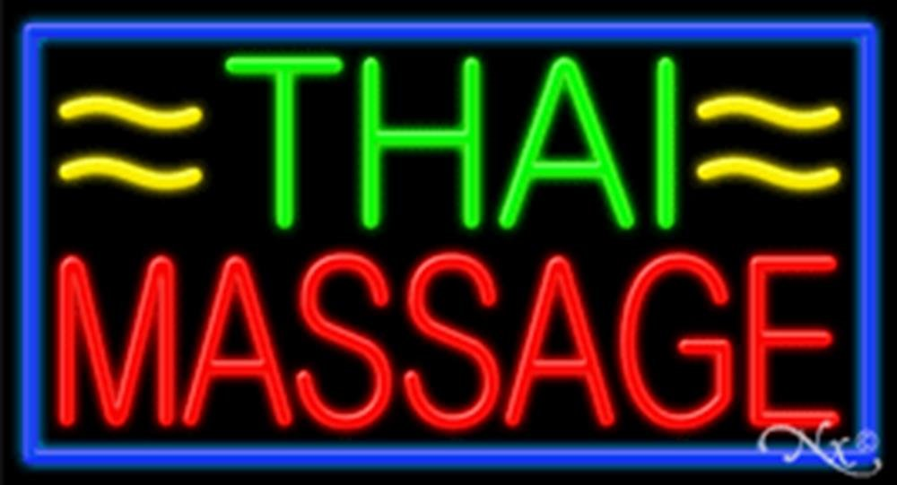 20x37x3 inches Thai Massage NEON Advertising Window Sign by Light Master