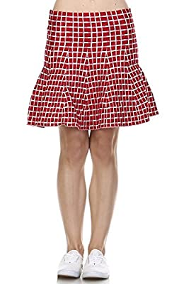Zoozie LA Women's Pleated Skirt with High Waisted Skater Flare