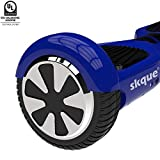 "Skque Self Balancing Scooter (MAX 220 lbs), 6.5"" I1 UL2272 Hoverboard Smart Two Wheel Self Balancing Electric Scooter and LED Lights"