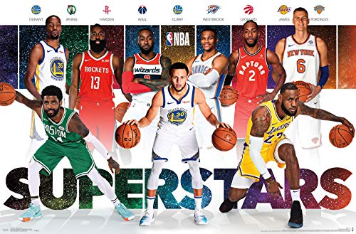 "Trends International NBA - Superstars Wall Poster 22.375"" x 34"" Multi"