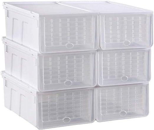 C-Bin-1 Caja de Zapatos, Zapatos para Mujeres Zapatos para niños Caja de Almacenamiento Dormitorio Habitación para niños Almacén Debajo de la Cama Antioxidante Transparente Necesidades diarias: Amazon.es: Hogar