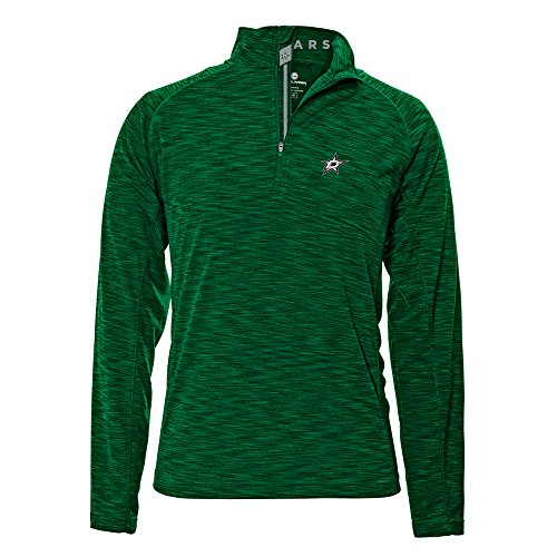 Levelwear LEY9R NHL Dallas Stars Adult Men Mobility Banner Stripe Quarter Zip Mid-Layer, Medium, Rider Green -