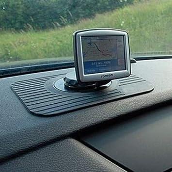 Soporte de goma antideslizante para coche para navegador GPS Tom Tom Navman (no es adhesivo), color negro: Amazon.es: Electrónica