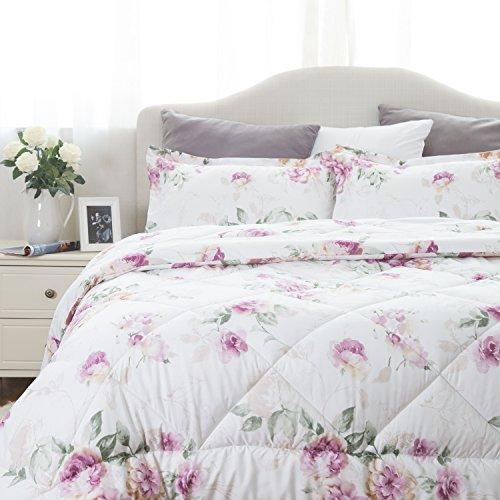 Bedsure went up Floral Pattern Comforter Comforter Sets