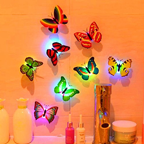 1 piece Removable 3D Paster Decal Wall Stickers Ornament Home Art Decor Glittery Luminous Shimmer Stickers Living Room Wall Decoration -
