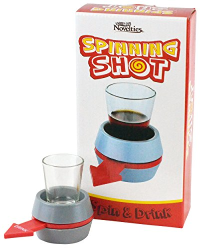 Fairly Odd Novelties Spin-The-Shot Spinning Shot Glass Drinking Novelty Game, (Novelty Drinking Glasses)