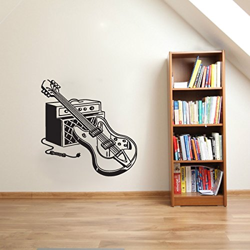 - Electric Guitar and Amp Vinyl Wall Decal Sticker Graphic