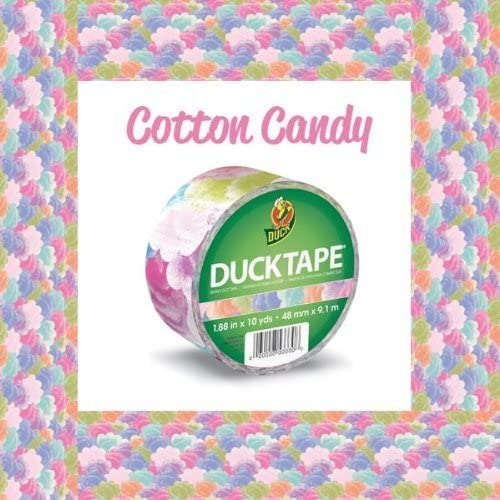 1.88 Inches x 10 Yards Cotton Candy Single Roll Duck Brand 282022 Printed Duct Tape