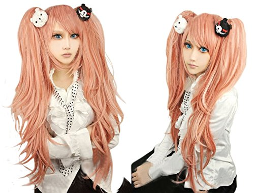 Cf Fashion Danganronpa Cosplay Wig Highlights Party Costume Hair Full Wigs For AdultChildren
