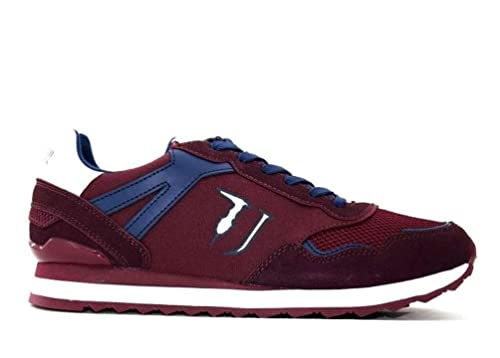 Trussardi Jeans 77A00109 Bordeaux Sneakers Uomo Scarpa Casual  Amazon.it  Scarpe  e borse 9345df0773c