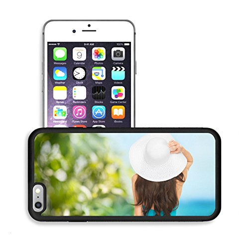 Luxlady Premium Apple iPhone 6 Plus iPhone 6S Plus Aluminum Backplate Bumper Snap Case IMAGE 25691773 vacation and summer holidays concept model in swimsuit with hat
