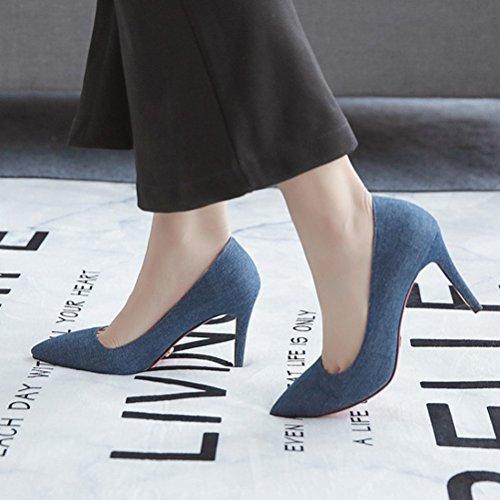 Mujer Sandalias con Cuña Agodor Azul qOtdtx