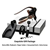Best Buy Rabbit Wine Opener Corkscrew Set of 5, Foil Cutter & Holder & Wine Cork Air Remover, Unique Gifts For Men, Woman, Birthday, Christmas, Couples, Friends, Anniversary With Equisite Gift Package