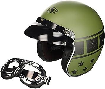 LS2 Casco Jet, Mate/Verde/Negro, M, Mate/Verde/