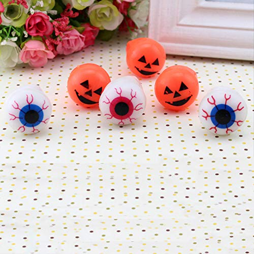 cyclamen9 4PCS Flashing LED Bumpy Ring, Halloween Flash Light Eyeball Ring Kid Party Favor Supply Bag Prop Gift (Eyeballs) ()
