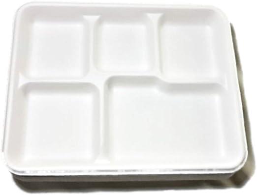 Eco Friendly, biodegradable, desechable, 5 compartimentos, bandeja ...