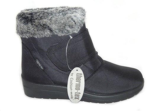 Cushion Walk Thermo-Tex Womens Comfort Fit Winter Boots - CW81 Black AAtqbU