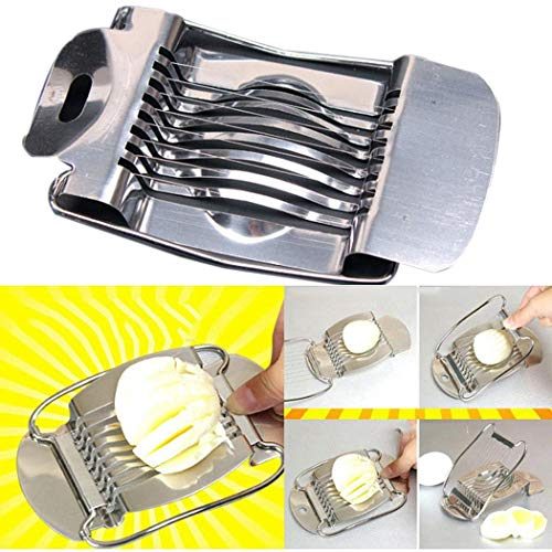 Egg Slicer, Stainless Steel Egg Cutting Wire Divider, Fruit Tomato Cutter, Multifunctional Kitchen Tools