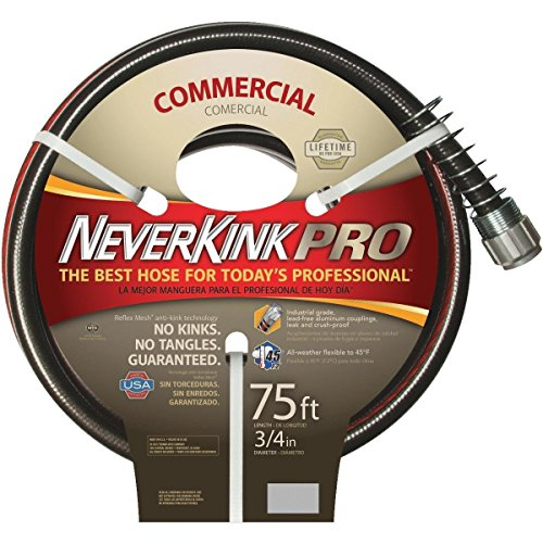 Teknor Apex Never Kink Series Commercial Duty Pro Garden Hose (3/4-Inch by 75-Feet) by Teknor Apex