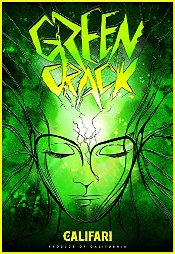 Califari Green Crack - Vivid Strain Art Wall Poster, Decor for a Home, Dorm, Dispensary, Store, or Smoke Shop - 13