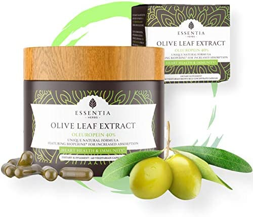 Superior Olive Leaf Extract 40 Oleuropein Strongest Strength Powerful High Absorption Formula