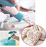 Cake Decorating Tips Pen,Icing Piping Tool Kit Set With Big and Small X4 different tips- X4 Nozzles Icing bagX 2 coupler, Stainless steel piping/Dispenser Nozzles Pen Set
