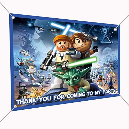 Star Wars Banner Building Blocks Large Vinyl Indoor or Outdoor Banner Sign Poster Backdrop, Party Favor Decoration, 30