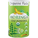 Organic Moringa Leaf Powder (16 Ounce - 1 Lb) ★ USDA Certified Organic ★ Trusted for Decades ★ From the Moringa Experts ★ 100% Pure and Natural Raw Organic Super Food Supplement ★ Non GMO, Gluten FREE ★ US FDA Registered Facility ★ Superior Moringa in a Decompossible Container