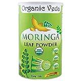 Organic Veda - Organic Moringa Leaf Powder - USDA Certified (16 Ounce - 1 Lb).