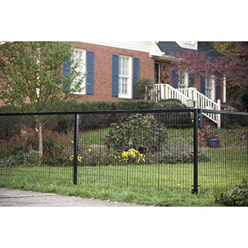 (YardGard Select - Metal Fencing 104ft Long Steel Fence and Double Gate Kit 4ft high - Black)