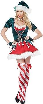 CHANGL Disfraz de Duende navideño para Mujer Árbol de Navidad ...