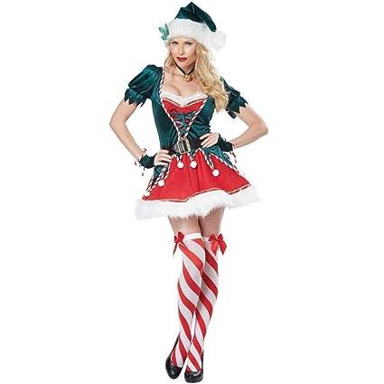 CHANGL Disfraz de Duende navideño para Mujer Árbol de ...