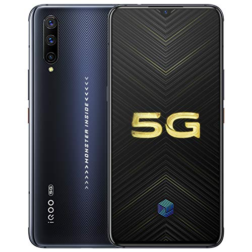 """IQOO Pro 8G+128GB 5G Mobile Phone Snapdragon855 Plus 6.41"""" AMOLD 48.0MP NFC 4cameras 44W Super Charge 4500mAh Cellphone Support Google by-(Real Star Technology) (Black 8+128gb)"""