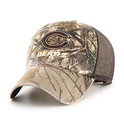 NFL Chicago Bears Men's Ledgewood Realtree OTS Challenger Adjustable Hat, Team Color, One Size