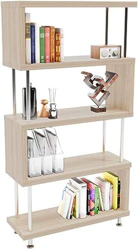 Veryke S-Shaped 5 Shelf Bookcase