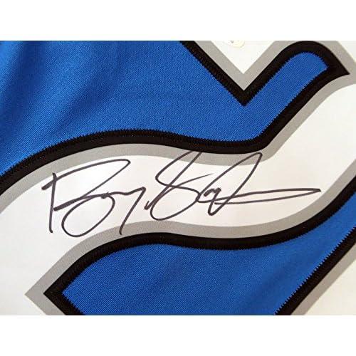 save off ef120 acaea Detroit Lions Barry Sanders Signed Autograph Blue Nike Twill ...