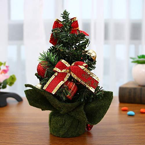 Cupcinu Mini /árbol de Navidad Mini /árbol de Navidad Artificial Decoraci/ón de Escritorio de Navidad Style a