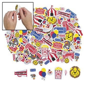 Circus Carnival Adhesive Shapes Stickers