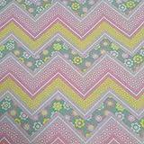 Playard Fitted Designer Handmade Mattress Sheet fits 28'' X 41'' X 2'' (Zippy Chevron Floral)