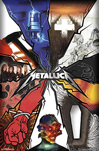 Trends International Metallica-Collage Wall Poster, Multi
