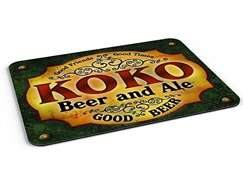 Koko Beer & Ale Mousepad/Desk Valet/Coffee Station Mat