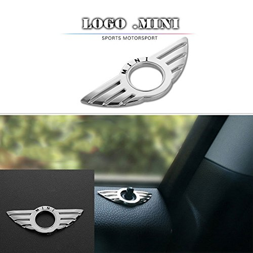 - CALAP STORE - 1 Pcs Car Door Pin Lock Wing Emblem Badge Auto Stickers Decorative For BMW MINI Cooper /S/ONE/Roadster/Clubman/Coupe Car-Styling