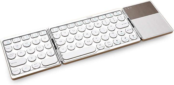 Aidashine Teclado Plegable inalámbrico, Teclado Bluetooth ...