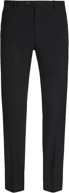 HBDesign Mens 2 Piece 2 Button Peak Lapel Midipattern Red Jacket Black Pants