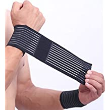 BambooDrive Bamboo Wrist Hand Carpal Tunnel Compression Support Band Strap Wrap Wristband Men And Women (One Pair)